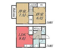 [テラスハウス] 千葉県千葉市花見川区検見川町5丁目 の賃貸【/】の間取り