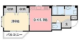 ピュアハウス青蘭館[1階]の間取り