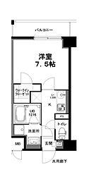 名古屋市営名城線 上前津駅 徒歩8分の賃貸マンション 2階1Kの間取り