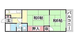 グリーンハイツ花隈[40B号室]の間取り