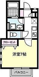 HODAKA Canal 13[103号室]の間取り