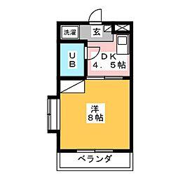 ウッデンベル[2階]の間取り