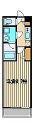 西武池袋線 富士見台駅 徒歩5分の賃貸マンション 2階1Kの間取り
