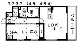 セレーナ[501号室号室]の間取り