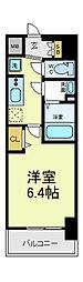 近鉄南大阪線 河堀口駅 徒歩2分の賃貸マンション 4階1Kの間取り