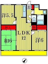 フローラル松戸[9階]の間取り