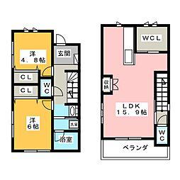 [一戸建] 岡山県岡山市南区西市 の賃貸【/】の間取り