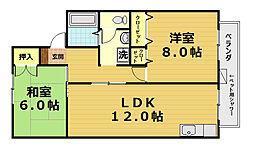 ハミングハウス[2階]の間取り