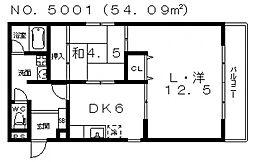 La CASA (ラ カーサ)阪南町[3階]の間取り
