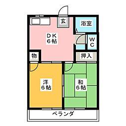エレガンスコーポA・B[1階]の間取り