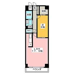 エスティメゾン鶴舞[2階]の間取り