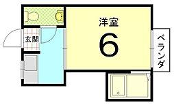 レディースハイツ西ノ京[302号室]の間取り