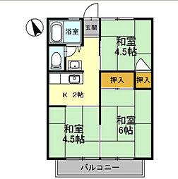 浜寺グリーンハイツ[2階]の間取り