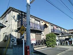 東京都府中市白糸台5丁目の賃貸アパートの外観