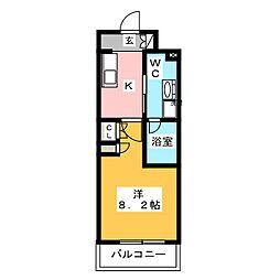 プラウドフラット木場II 12階1Kの間取り