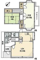 [一戸建] 埼玉県越谷市平方 の賃貸【/】の間取り