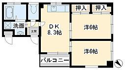 KNビル古船場[301号室]の間取り