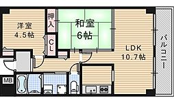 グランディール阪南町[10階]の間取り