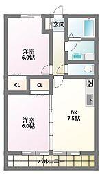 アビタシオンII番館(アビタシオン2番館)[2階]の間取り