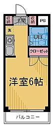 カーサ白糸台[403号室]の間取り