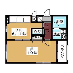 リングヒルズ矢田[2階]の間取り