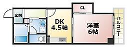 AH徳井[5階]の間取り