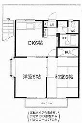 エステートピアコムA・B[2階]の間取り