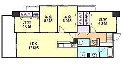 PIER倉敷[4階]の間取り