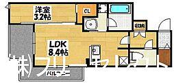 エトゥール博多駅北[10階]の間取り