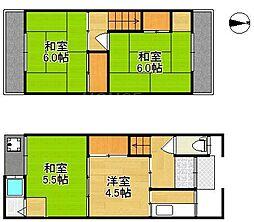 [一戸建] 京都府京都市北区小山下板倉町 の賃貸【/】の間取り