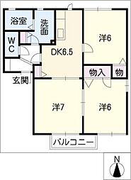 orange court A[2階]の間取り