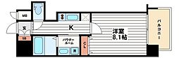 プレサンス堺筋本町駅前[15階]の間取り