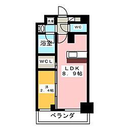 ハーモニーレジデンス名古屋新栄[10階]の間取り