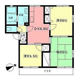 神奈川県藤沢市打戻の賃貸アパートの間取り
