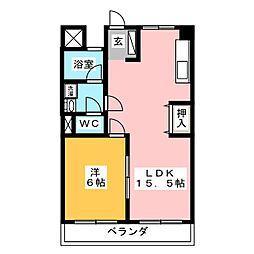 岐阜キャッスル A棟[6階]の間取り