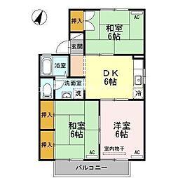 岡山県倉敷市玉島黒崎新町丁目なしの賃貸アパートの間取り