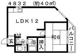 第二メゾンイハタ[305号室号室]の間取り