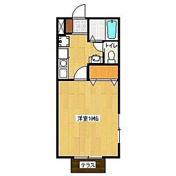メゾンアサヒ2[1階]の間取り