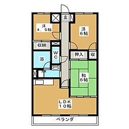 ベルハイツ[4階]の間取り