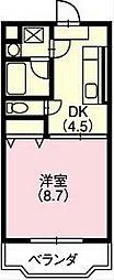 タカツコート[201号室]の間取り