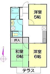 アトムハウス[102号室]の間取り