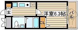 SWISS梅田東[4階]の間取り