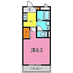 東浦町 キャトル・セゾン[3階]の間取り