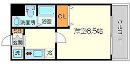 ParkHills新大阪will(パークヒルズ新大阪ウィル) 3階1Kの間取り