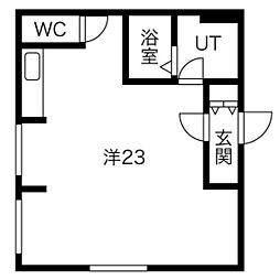 MTガーデン栄通 1階ワンルームの間取り