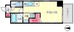 セルン新町 3階ワンルームの間取り