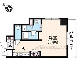 DAIWA RESIDENCE IBARAKI 4階ワンルームの間取り
