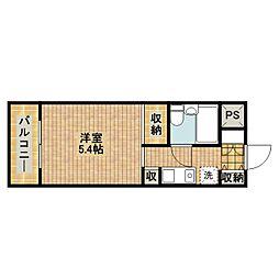 モナークマンション武蔵新城第2[314号室]の間取り