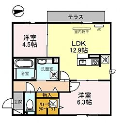 仮)D-room沢田2丁目[103号室号室]の間取り