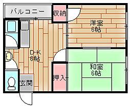大成マンション[3階]の間取り